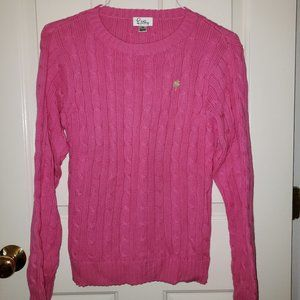 Lilly Pulitzer Pink Cableknit Sweater - Size XS